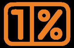 """Logo 1 procent - kliknij, aby przejść do strony z informacją o darowiźnie na rzecz Fundacji """"Świar według Ludwika Braille'a"""""""